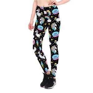 Swim Ring God Horse Printed Cool Capri Pants Breathable Slim Fit Women's Sports Yoga Leggings Lgs-3905