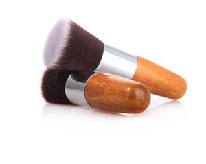 С плоской головкой бамбука кисти премиум мягкие синтетические волосы краснеть кисти фундаментные макияж инструменты DHL бесплатные косметические принадлежности