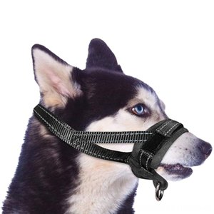 Soft Muzzle Mouth Cover Nylon Adjustable Padding Comfortable Dog Supplies Pet Supplies Muzzles For Large Dog Outdoor Anti Biting Behavior Tr