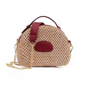 Pretty2019 Die Original Chic Night Wind Straw Geflochtene Artikel Hit Color Handtasche Single Shoulder Span Woman Bag