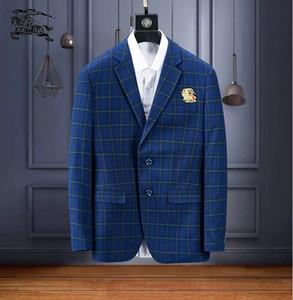 2019 Primavera e outono dos homens Blazers de moda de alta qualidade gola homens terno jaquetas Mens Casaco de Negócios Workwear vestidos masculinos