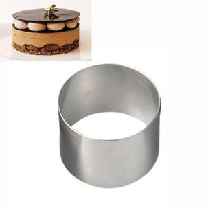 Mini-Runde Mousse Cake-Grad-Edelstahl Gebäck Ring für Backform Dekoration-Werkzeuge Küchen-Backen-Scraper 1pc
