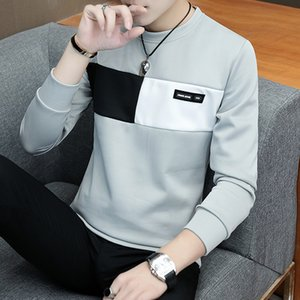 2019 new men t shirt casual long sleeve men's basic tops tees stretch t shirt mens clothing chemise homme