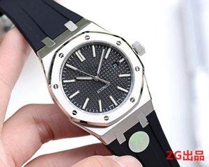 en kaliteli Tasarımcı ZG fabrika 15.400 kraliyet güçlü 45mm erkekler otomatik saatler kaliteli kauçuk kayış kol saati ile 2813 hareketi
