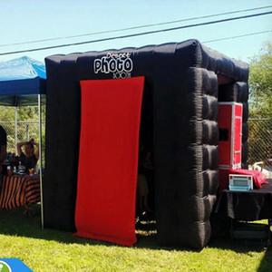 Надувной Photo Booth Портативный черный Используется для 2.4m Wedding Party Event * 2.4м * 2.4м ХОРОШЕЙ