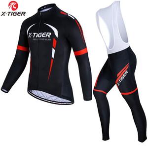 X-Tiger Winter руно Велоспорт Джерси с длинным рукавом набор Горный велосипед Одежда термальной ватки Велогонки задействуя одежда