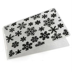 La nueva manera de nieve de Navidad de plástico en relieve de plantilla carpetas DIY Scrapbooking Tarjetas Crafts