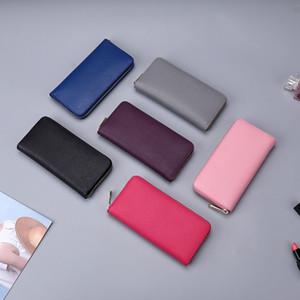 Classic Cross Pattern Long Zip Purse Designer Handbag Lady Rectangular Wallet