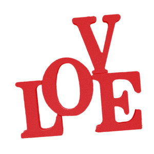 Bois rustique signe d'amour | Exempté de blocs en bois Lettres Cutout Sweet Home Signes décoratifs | Parfait pour salon, cuisine Décoration