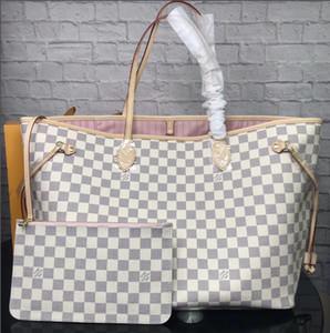 Oxidar Couro Bolsa GM nunca completo Bag MM Neverful Saco 100% couro genuíno Handbag Shopping Bag famosa marca da bolsa sacos de ombro