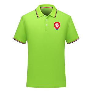 Çek Cumhuriyeti yeni gündelik futbol polos gömlek kısa kollu yaka polo futbol polo gömlek Erkekler milli takım antrenman forması Polos gömlek