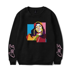 Cardi B Hoodies Sweatshirt Drucken Harajuku Mann / Frau Capless Sweatshirt Hip Hop Langarm Pullover Sport Tops High Quality