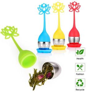 Silicone colino da tè Cucina Tea Infuser base di erbe palla Spice filtro riutilizzabile figura di foglio Folwer silicone Tè Infuser