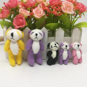 50 PC heißen Verkauf Panda-Plüschanhänger Spielzeugpuppe mini nette Puppe Plüsch-Schlüsselanhänger Spielzeug 7cm bücken