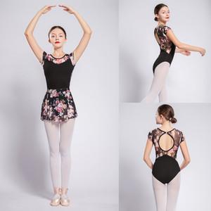 Bale Dans Mayoları Kadınlar Yüksek Kalite Çiçek Net Jimnastik Dans Kostüm Kızlar Bale Egzersiz Leotard Dans Giysileri