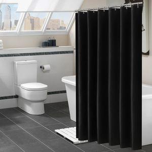 방수 대형 샤워 커튼 BH1727 TQQ 커튼 방수 샤워 커튼 폴리 에스테르 욕실 커튼 180x180cm 블랙 화이트 샤워