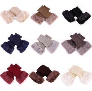 Pernas Malha Bota punhos Fur Knit Toppers Bota Socks Mulheres de Inverno de aquecedores meias curtas meninas Joelho Furry luva Tubo Acessórios LXL624-1
