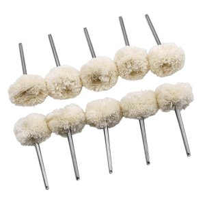 10 Pieces 1 8 Polishing Buffing Wool Cotton Wheel for Rotary Tool Accessory