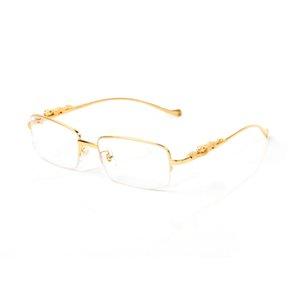 moda güneş gözlüğü gözlük çerçevesi kadın metal çerçeveler yarı kare gözlük moda güneş gözlükleri süper Kare kare takılar yıldız rim