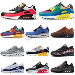 Designer90 Be erkekler kadınlar için koşu ayakkabıları Gerçek Viotech Jelly Lazer Fuşya Mixtape Mars İniş Kızılötesi erkek eğitmen Spor Spor ayakkabılar 36-45