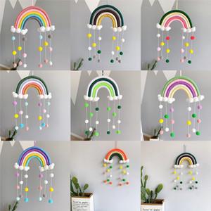 INS bebê para casa sala de berçário do arco-íris decoração pingente de mão de tecelagem do arco-íris tapeçaria Z1093