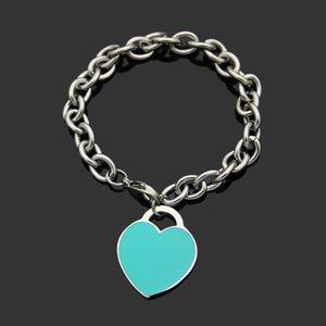 Liebhaber Silber Armband Armbänder Handgemachte Party Blue AU750 Frauen Herz Schmuck Otovt