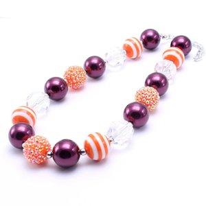 Día de Acción de Gracias Kid Chunky Collar Regalo de fiesta de cumpleaños para niños pequeños Beaded Bubblegum Baby Kids Chunky Necklace Jewelry