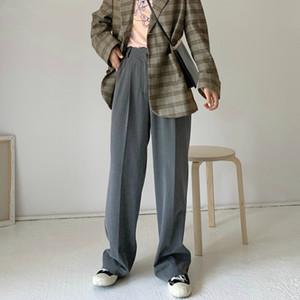 Mozuleva Casual Gevşek Düz Pantolon 2020 İlkbahar Yaz Kadın Uzun Pantolon Şık pantalon Kadınlar Ofisi Bayanlar Suit Pantolon femme