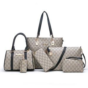 2019 Spalla Four Seasons Womens Bag Nuovo mano Cross-Corpo madre e bambino sacchetto di stampa a sei pezzi di mezza età Womens Bag Set