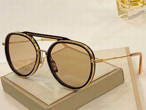 Black Gold Round Pilot Sunglasses 19017 unisex sunglasses occhiali da sole mens pilot sunglasses New with box