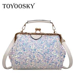 TOYOOSKY Fashion Women Sequins Shoulder Bag High Quality Female Bag Large Capacity pu Leather Women Handbags Designer