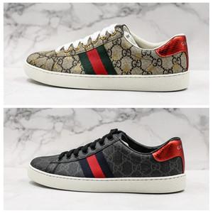 2020 gucci shoes Designer Shoes Ace Sneakers Canvas Black Tiger Mens per gli uomini Parigi sport delle donne della scarpa da tennis di lusso formatori Chaussures Size 36-44