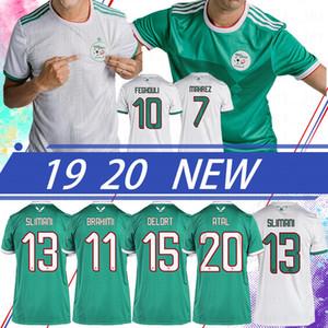 Tay Cezayir ANA UZAK Feghouli AFCON Mahrez Brahimi BOUNEDJAH Bouazza Jersey 2020 algerie FUTBOL FORMALARI 2 yıldızlı FUTBOL Şir