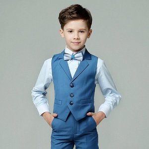 Flower Boys Suit for Weddings Kids Prom Party Tuxedo Formal Blazer Pants Children's Day Pinao Performance Costume school uniform Si0h#