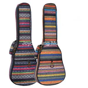 Niko 21/23/26 polegadas Ukulele Bolsa étnico Bordados Tecidos Mini Guitarra Soft Case Gig Bag