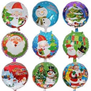 Palloncino di stagnola di alluminio da 18 pollici Babbo Natale pupazzo di neve decorazione della casa di natale palloncini festa di compleanno forniture vacanza ornamento giocattolo per bambini