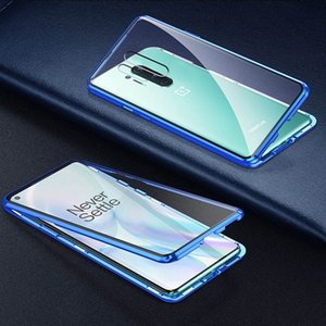 Adsorção magnética 360 completa Vidro temperado Virar Capa Para OnePlus 8 Pro 7T Pro 7 Xiaomi Mi 10 Pro redmi Nota 8 Note7