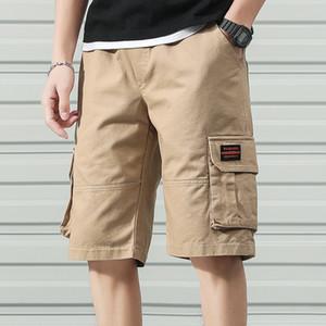 Anbican Moda 2020 verano ocasional de carga pantalones cortos de algodón para hombres Pantalones Pantalones cortos masculino de la corto
