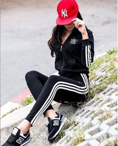 Mulheres manga longa de duas peças camisa conjunto de calça roupas Treino leggings jaqueta cair fatos de jogging Esportes de moda Sportswear muito quente