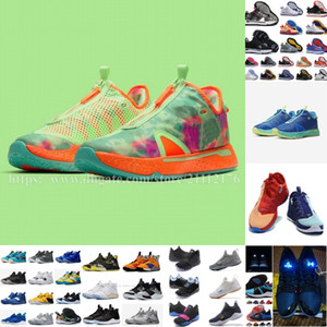 2020 Paul George IV III Sneaker PG 3 NASA Siyah Beyaz BHM PG3 PG4 Tüm Yıldız GS Basketbol Ayakkabı Erkek ABD Boyutu 7-12