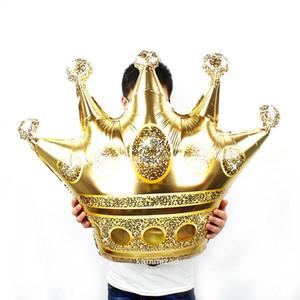 Grand 39inch 50pcs Gold Crown Foil Ballons Prince Princesse Baby Shower 20 1er anniversaire du Parti Coroa Décorations adultes Globos