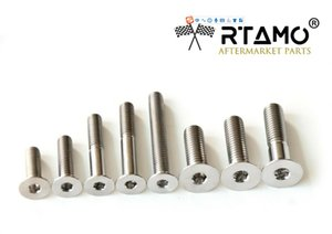 RTAMO | M5 M6 M8 Various Length Titanium Alloy Bolt Gr5 DIN7991 Counter Sunk Hex Socket Screw 10 pieces Kit for Motorcycle High Strength
