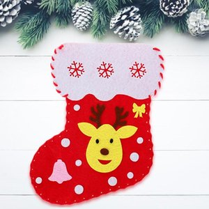 Added Interest Christmas Stocks Candy Gift Bags Stimulate Visual Development DIY Manual Children Toys Christmas Decorations