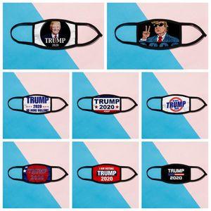 Donald Trump 2020 Maks Presidential Election Designer Mask Adult Kids Fashion Anti Dust Cotton Silk Face Masks 8styles RRA3192