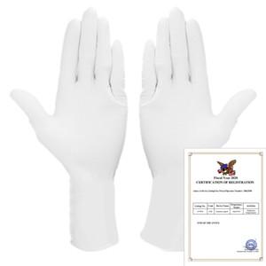 100pcs / Set Nitrilgewebe volle Finger-Touch-Screen-wasserdichte freie Allergie Einweg Arbeitssicherheit Haushaltsreinigung Handschuhe