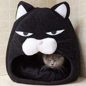 Cat House Bed Cat Litter Mat Sleeping Nest Pet Bed Cartoon Kennel Winter Warm Kennel Dog Bed Puppy Cushion Creative Cat Supplies