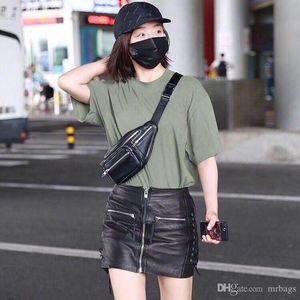 High-end clássico designer de fannypack saco da cintura de moda tendência de estilo de rua zip decoração vendendo hot-unisex boca fechada método de múltiplos de volta