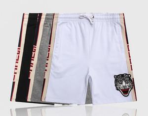 19s tigre impressão g Board Shorts Men Summer Praia Shorts Calças de Alta Qualidade Swimwear Bermuda Masculino Carta Mens Shorts de algodão puro esporte 12122