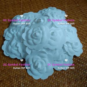 NOVA 6 pçs / lote cor Branca camélia DIY Parte de auto-adesão camellia flor para vara VIP no saco ou cartão