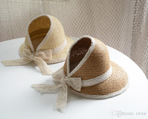 Summer boys and girls children sun baby sun block hat sun hat empty top beach straw hat